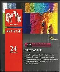 Caran Dache Neopastel Professional Artist Oil Pastels 24 Shades