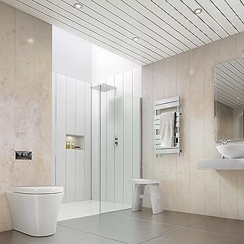 The Cladding Store Beige Marble 5mm Bathroom PVC Cladding Shower Ceiling  Kitchen Wet Wall Panels UPVC Shower Splash Panels (8 Pack): Amazon.co.uk:  DIY U0026 ...