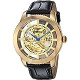 ساعة انفيكتا للرجال فينتيج ستانلس ستيل مع حزام جلد عجل, اسود, 22 (23638)