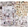 273PCS Autocollants Scrapbooking Stickers Gommettes Etiquettes Adhésif Style Vintage DIY Album Photo 6 Boîtes pour Journal Pl