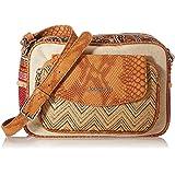 Desigual Fabric Body Bag, Bolsa para Cuerpo de Across para Mujer, marrón, U