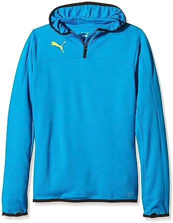 Puma IT Evotrg Children's Hoodie Sweatshirt blue Atomic Blue-Black Size:7  years
