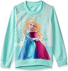 Frozen Kids Girls Blue Tint Color Sweatshirt