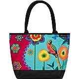 VON LILIENFELD Handtasche Damen Kunst Motiv Eva Maria Nitsche: Parrot in Paradise Shopper Maße L42 x H30 x T15 cm Strandtasch