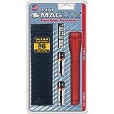 Mini Maglite zaklamp, werkt op batterijen met twee AA-batterijen, blauw