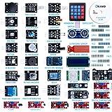 ELEGOO Kit DE 37-en-1 Module Capteur V2.0 avec CD Tutorial Complet et Accessible-Composants Electroniques Sensors Accessoire Education Arduino Raspberry Pi pour Débutants et Professionnels DIY