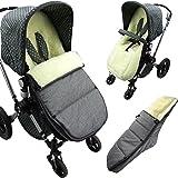 Bambiniwelt Fußsack Geeignet Für Bugaboo Cameleon Sitzauflage Mit Lammwolle Winterfußsak Marine Mod K Baby