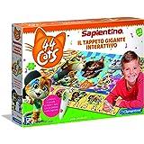 Clementoni - 16192 - Sapientino - Il Tappeto Gigante Interattivo 44 Gatti - Made in Italy, puzzle bambini, gioco educativo ba