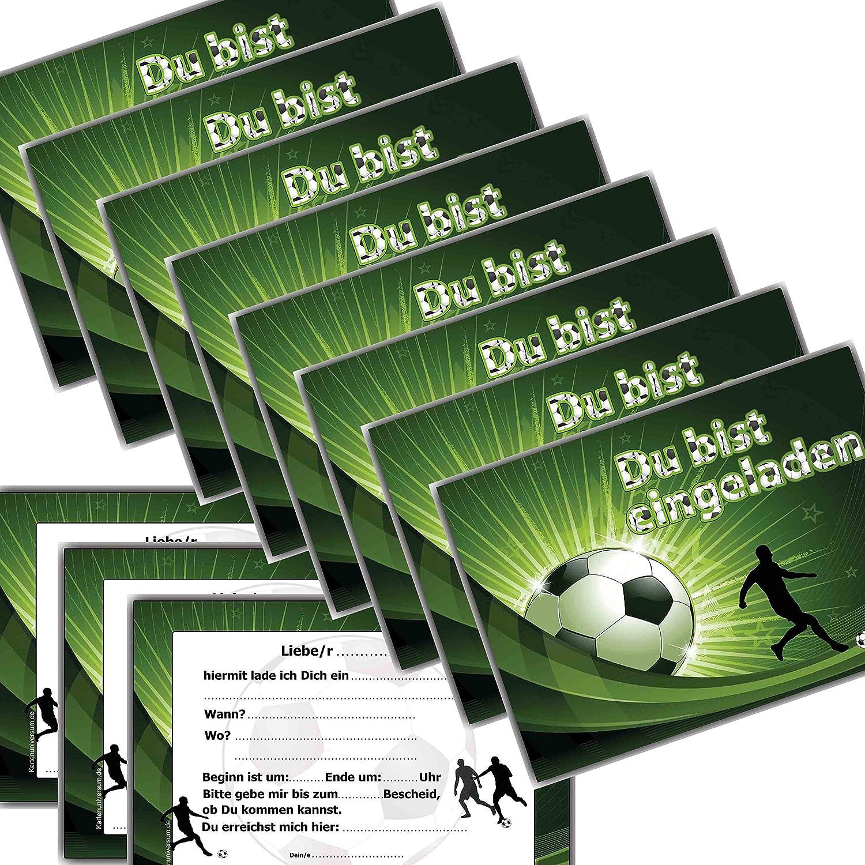 Fussball Einladungskarten Kindergeburtstag Einladung Jungen Kinder  Geburtstag   20 Stück: Amazon.de: Bürobedarf U0026 Schreibwaren
