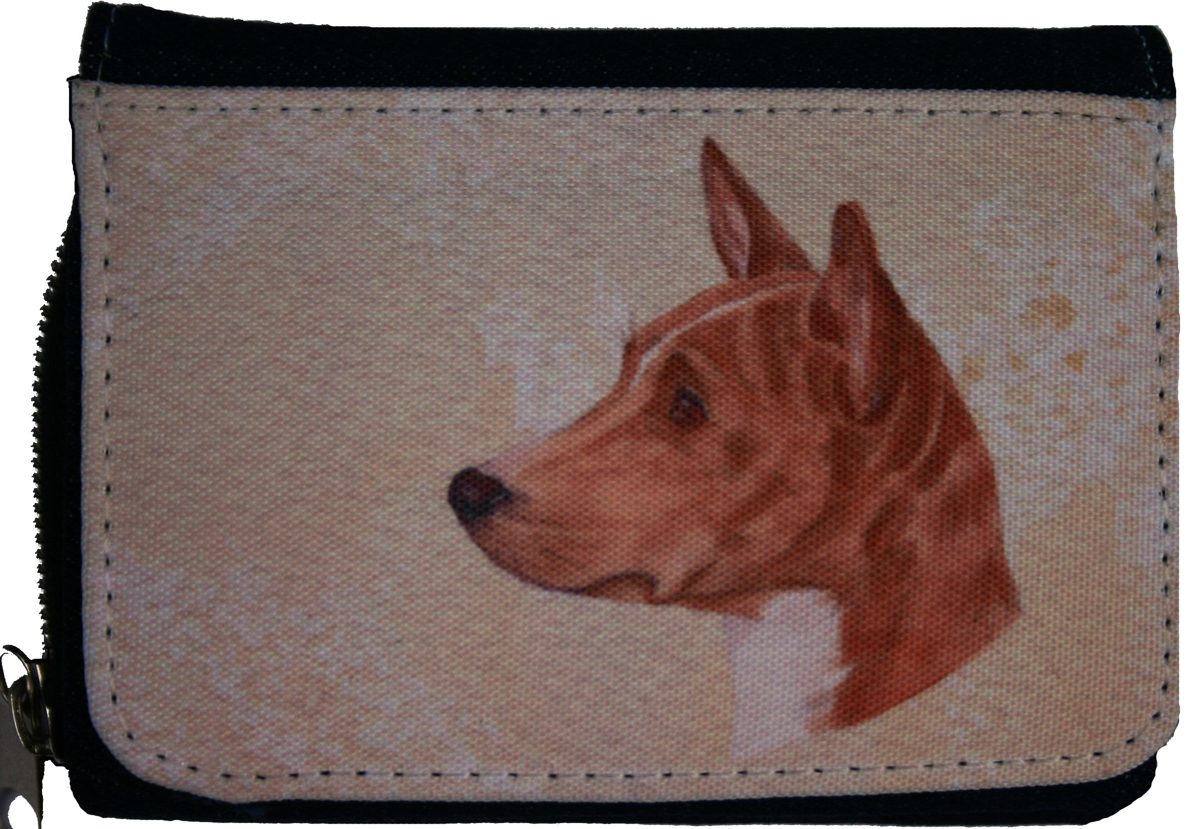 BASENJI DOG DENIM TEXTILE PURSE design Sandra Coen