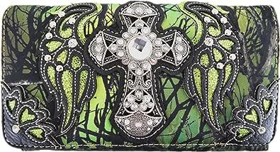 Western-Camouflage-Geldbörse mit Kreuzflügeln, Schultertasche, Clutch, Damen, Blockierung der Handgelenktasche
