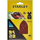 Stanley STA31019-XJ schuurpapier (korrel K240, extra fijn gekorrel, met klittenband-Fix, geschikt voor Black+Decker compacte