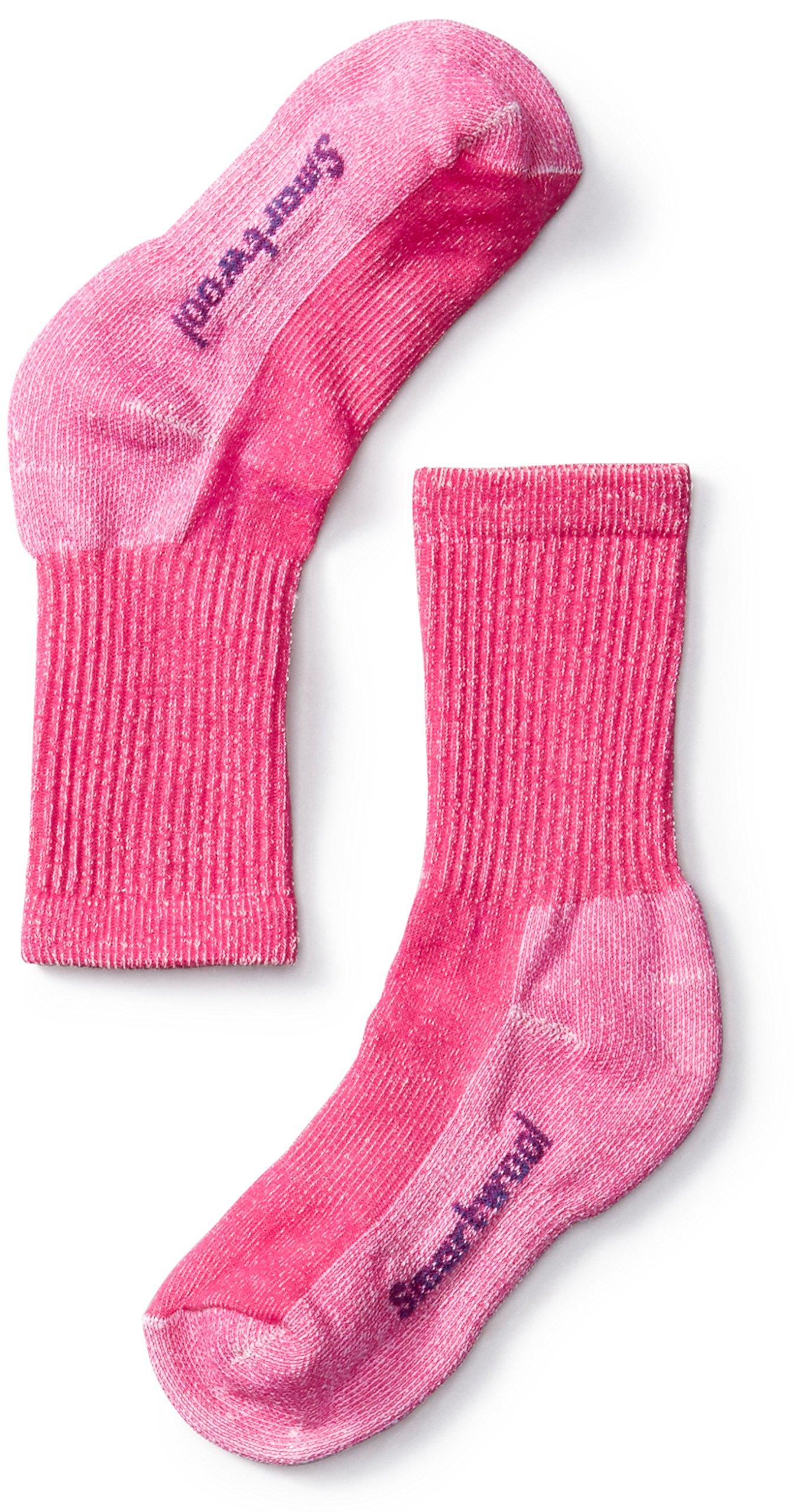 Smbx3|#Smartwool Kids Hike Light Crew Socks - Potion Pink, Large 1