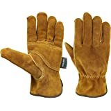 KIM YUAN Waterproof Leather Work Gloves, with Wrist, Wear-Resisting Puncture-Proof For Yard Work, Gardening, Farm, Warehouse,