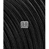 Merlotti 20310- Cable eléctrico Redondo H03VV-F, 2x 0,75 mm², Negro, 3m