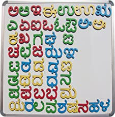 Cryo Craft Wooden Magnetic Kannada Alphabets (Multicolour)