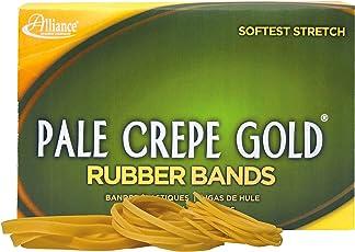 Alliance Rubber 20545 Pale Crepe Gold Rubber Bands Size #54, 1 lb Box (Assorted Sizes, Golden Crepe)