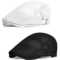 Coucoland Cappello da uomo estivo a rete, traspirante, con visiera piatta, accessorio per la vita quotidiana