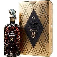 Distillerie Nonino, Grappa Nonino Riserva Aged 8 Years in barriques e piccole botti - bottiglia in vetro nero intagliata…