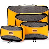 Cubes d'emballage PRO pour le voyage | Ensemble de 4 sacs de rangement pour bagages | Cubes de Voyage Multi-Tailles Ultra lég