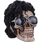 Nemesis Now Bad Michael Jackson King of Pop Inspired Skull Ornament, Black, 16.5cm