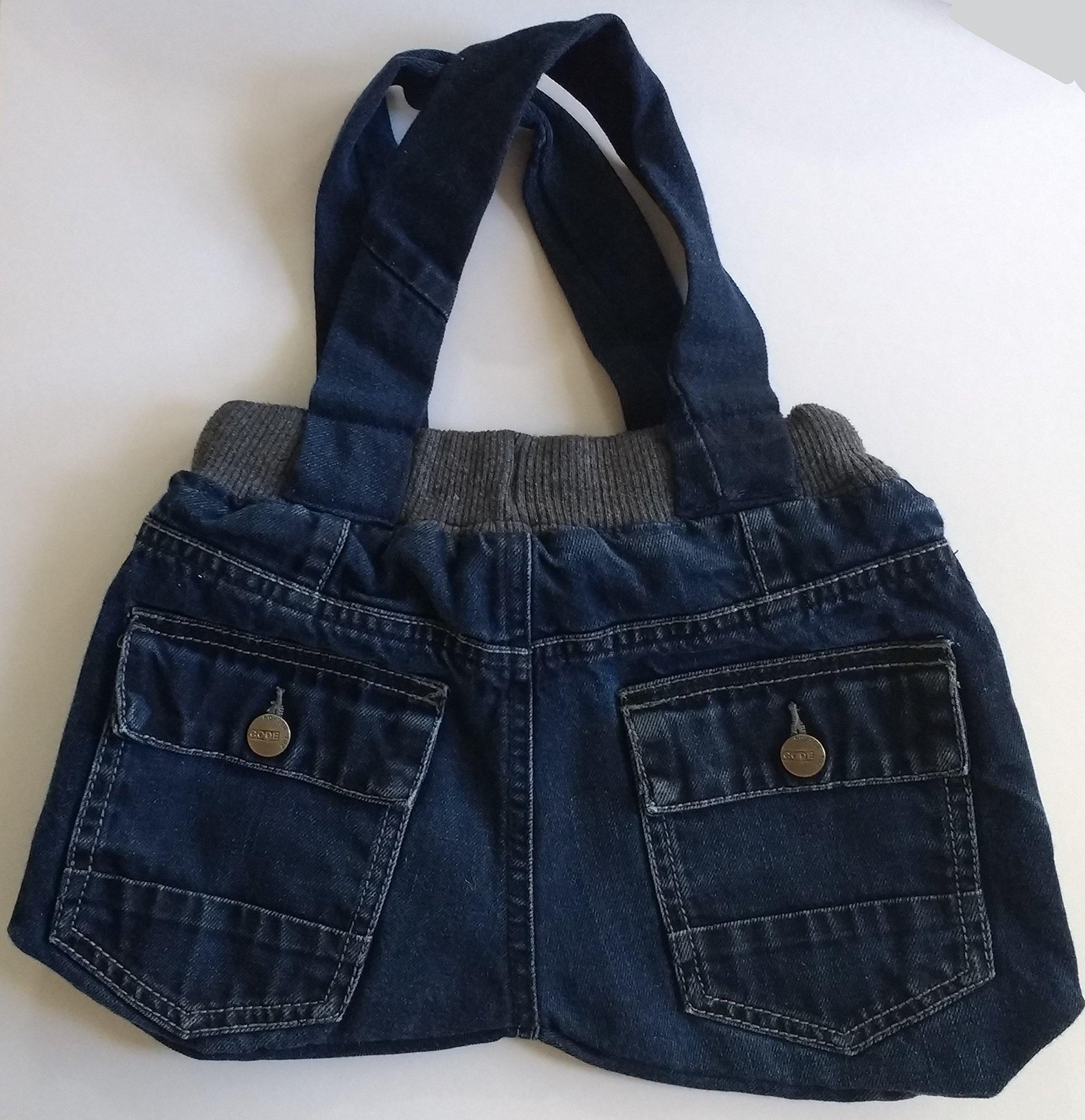 Recycled denim jeans bag - handmade-bags