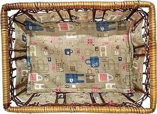 Shubh Wedding Square Shape Traditional Wooden Basket for Anniversary, Birthdays, Wedding Gifts, Baby Shower, Side Table Basket, Fruit Basket, Dry Fruit Basket - Multicolor (ShubhW_118)
