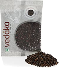 Amazon Brand - Vedaka Black Peppercorn (Kali Mirch), 50g