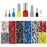 BAURIX® 1200 stycken trådändar sortiment I isolerade hylsor sorterade enligt DIN I 0,5 mm² - 10 mm² I professionella isolerad