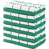 Utopia Towels - 12 Toallas de Cocina, paños de Cocina (38 x 64 cm) (Verde y Blanco)