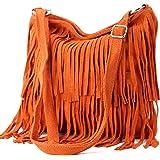 Ital. Borsa a tracolla in pelle Frans borsa tracolla donna borsa in pelle scamosciata T125