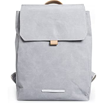 0c7e3aacffc8 Daypack Woman - Canvas Backpack Grey RAWROW - Minimalist Premium design -  perfect for work