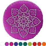 34x20cm Dinkelspelz #DoYourYoga Yogakissen mit Stickerei F/üllung : Buchweizenschale o Gr/ö/ße ca handbesticktes Meditationskissen aus Baumwolle : Mandala