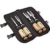 Amazon Basics Stechbeitel-Set, 4-teilig, 1/2-Inch (13 mm) - 1-1/4-Inch (32 mm), Holzgriff