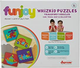 Funjoy Transport Vehicles - Car, Train, Ship and Helicopter