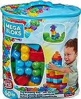 Mega Brands- Sacca Ecologica Blocchi da Costruzione, Giocattolo per Bambini 1+ Anni, Multicolore, 60 Pezzi, DCH55