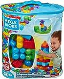 Mega Bloks Sac Bleu, briques et jeu de construction, 60 pièces, jouet pour bébé et enfant de 1 à 5 ans, DCH55