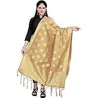 Ecolors Fab Silk Banarasi Silk Woven Women Silk Dupatta