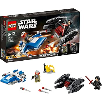 173031fcf1773 LEGO 75196 Star Wars A-Wing Toy vs TIE Silencer Microfighters Building Set