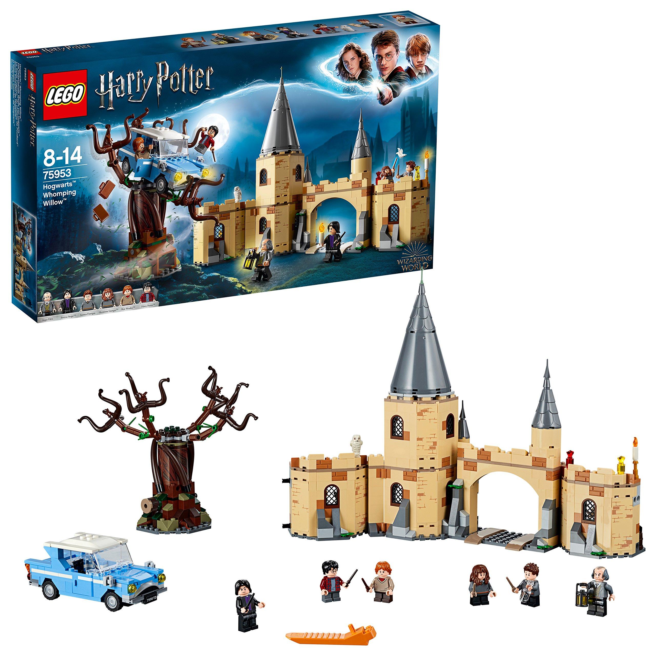 LEGO Harry Potter – Sauce Boxeador de Hogwarts, Juguete de Construcción del Mundo Mágico con Minifiguras de Harry Potter, Ron Weasley, Hermione Granger, Severus Snape y Otros Personajes (75953)
