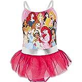 Disney Costume Piscina Bambina, Costume da Bagno delle Principesse Ariel La Sirenetta, Biancaneve, Cenerentola, Costume Pisci