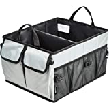 AmazonBasics Trunk Organizer with Collapsible Design for Cars, SUVs, and Trucks - Grey