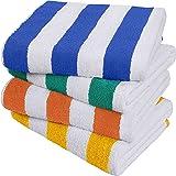 Utopia Towels - Cabana Streifen Strandtücher (76 x 152 cm) - 100% Ring Spun Baumwolle große Pool Handtücher, weich und schnel