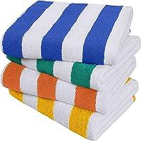Utopia Towels - Serviettes de Plage Cabana Stripe (76 x 152 cm) - Grandes Serviettes de Piscine 100% Coton filé…
