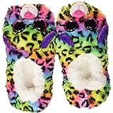 Ty - Pantuflas pequeñas, talla 30, diseño de Dotty Le Leopard, multicolor