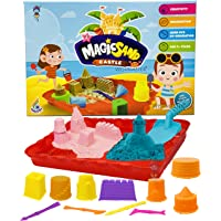 Wishmaster Kids Playing Soft Sand No Mess and Easy to Clean Up Castle Making Mold Set with Play Sand | Squeezable Sand…