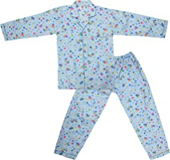 Dhir Fashions Branded Comfortable Premium Value Ultra Soft Cotton Blue Night Suit