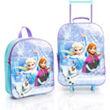 Disney Luggage Sets With Frozen 2 Princess Elsa Anna, Carry On Suitcase And Backpack 2 Piece Travel Set, Trolley…