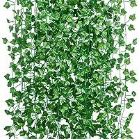 15Pcs * 2m Artificiel Lierre Guirlande Plante Artificielle Exterieur Faux Lierre Feuillage Artificiel Feuille Guirlande…