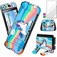 Darrnew - Adesivo per Nintendo Switch, motivo: unicorno, colore: Blu
